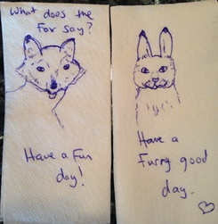 Critter napkins by Shannon 3