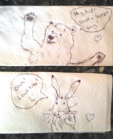 Critter napkins by Shannon 4