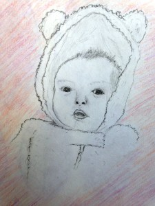 First baby drawing by Shannon Mayhew