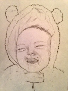 smiling baby by Shannon Mayhew